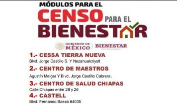 Instalan 11 Módulos Del Censo Del Programa Bienestar En